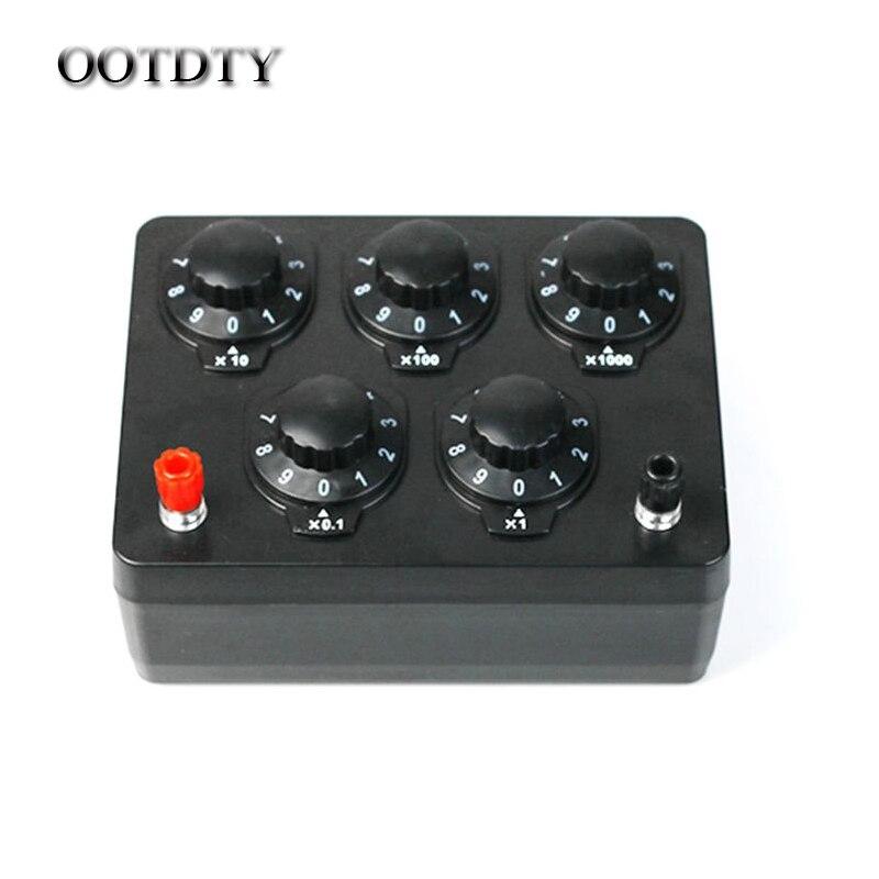 OOTDTY 0-9999.9 Ohm boîte de résistance Variable décennie résistance équipement expérimental pour l'enseignement de l'école physique