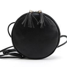 Funny Circle Planet Women Handbag Party crossbody tassel Fashion Messenger Bags solid pink black small mini Cute Shoulder Bag
