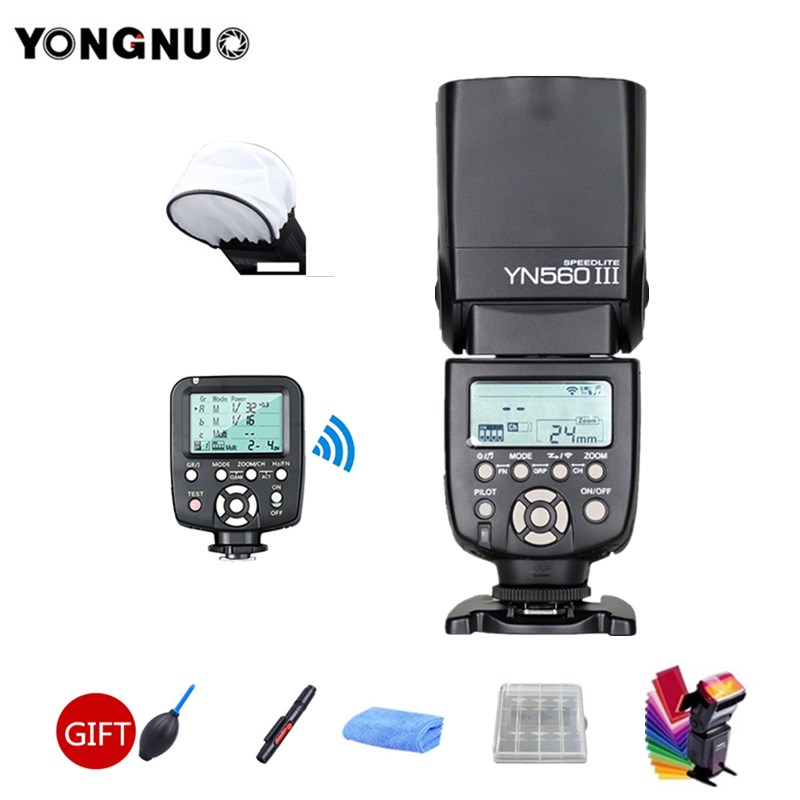 YONGNUO YN560III YN560 III Wireless Flash Speedlite + YN560-TX Trigger For Canon Nikon Olympus Panasonic Pentax Camera 2 pcs yongnuo yn560 iii yn560iii flash speedlite flashlight for canon nikon