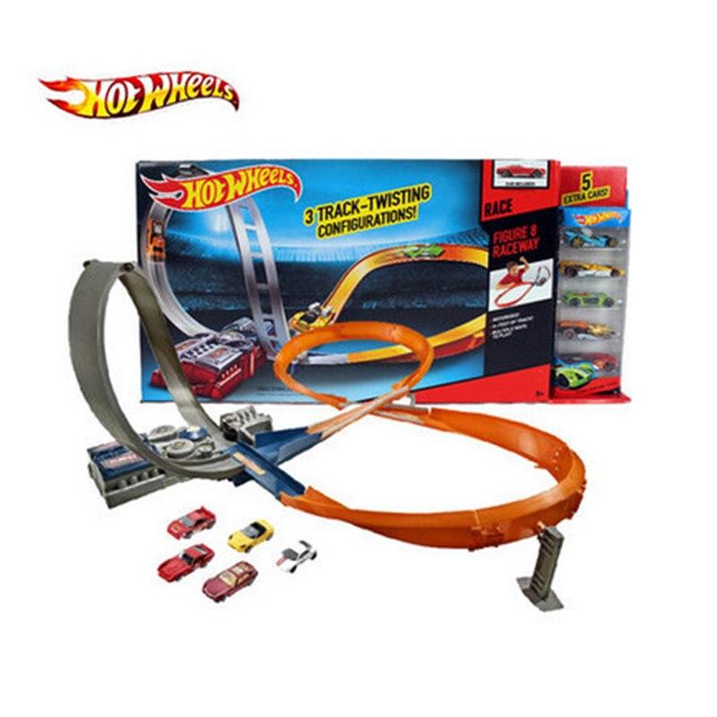 ล้อร้อน Roundabout โลหะขนาดเล็กรถยนต์รถไฟ brinquedo Educativo Hotwheels ของเล่นเด็ก X2586-ใน โมเดลรถและรถของเล่น จาก ของเล่นและงานอดิเรก บน   2