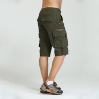 Gratis Leger Gloednieuwe Mannen Militaire Cargo Shorts Legergroen Grote Zakken Decoratie Heren Casual Shorts Herenkleding MK-7105A