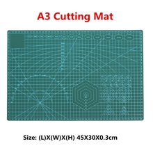 A3 Cutting Mat Plastic PVC Non Slip Self Healing Patchwork Double Sided Cutting Border Plate Pad for Leather Fabric Paper Craft