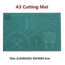 A3 חיתוך מחצלת פלסטיק PVC החלקה עצמי ריפוי טלאים כפול צדדי חיתוך גבול צלחת Pad עבור עור בד נייר קרפט