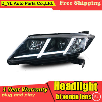 D_YL Car Styling for Honda City Headlights 2014-2015 City LED Headlight DRL Lens Double Beam H7 HID Xenon bi xenon lens фото