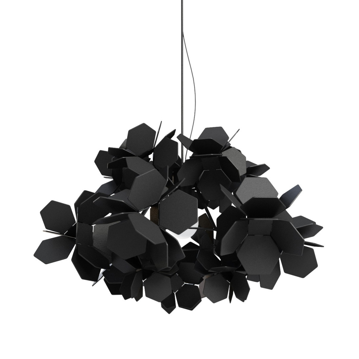Creative Personality Black Iron Flower Art Led E27 Pendant Light For Living Room Dining Room Bedroom Shop Dia 65cm 1848 lang qing court iron creative flower green dill multilayer wooden living room interior floor spider showy flower pots