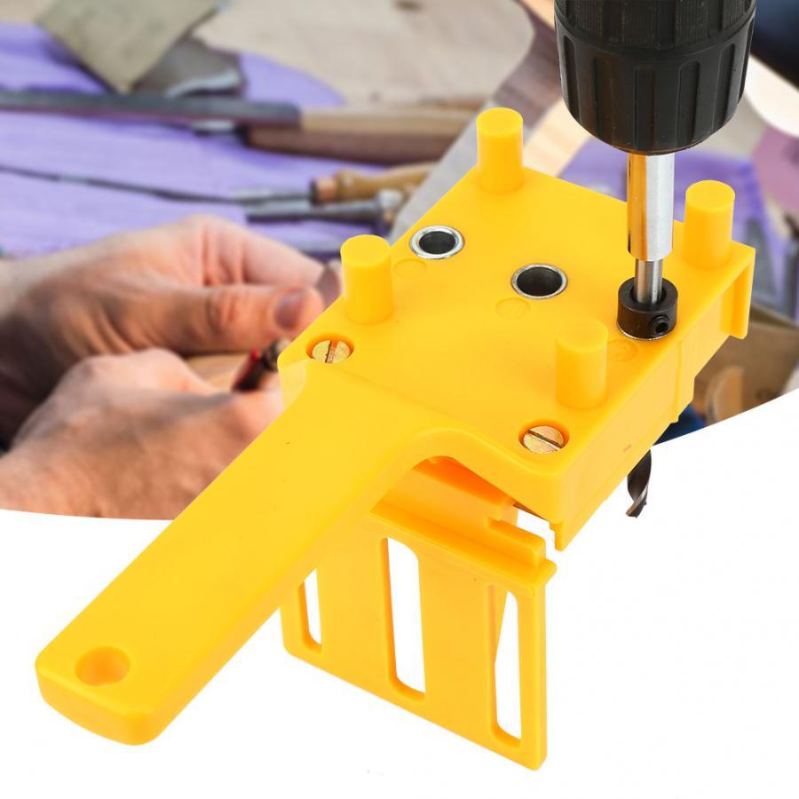 6/8/10mm Handheld Pocket Hole Jig Set Woodworking Wood Dowel Self-Centering Puncher Drill Guide Locator Jig Centrador De Tarugos