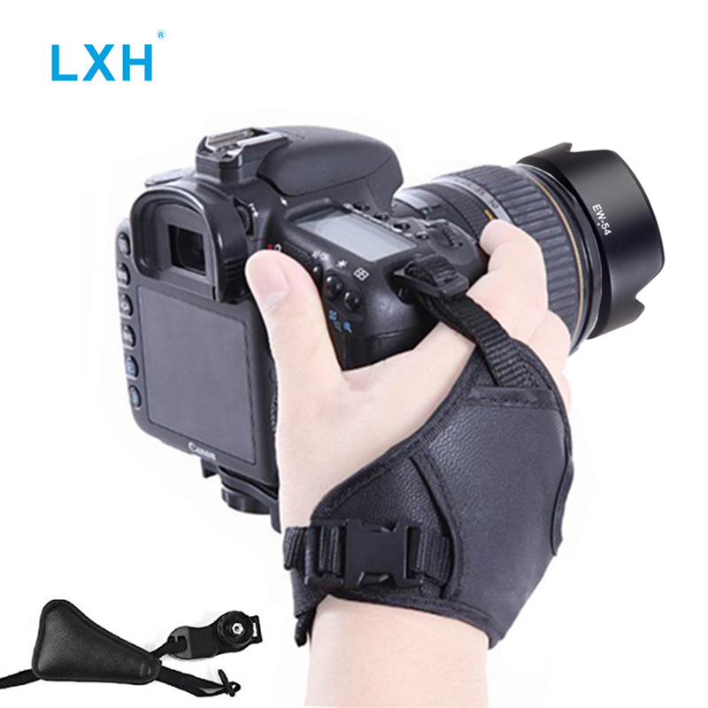 LXH DSLR Camera Hand Grip Wrist Strap With 1/4 Screw Mount For Canon Nikon Sony Olympus Pentax Fujifilm Camera Grip Strap