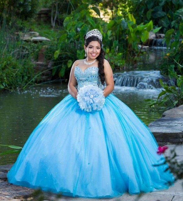 2018 Long Ball Gown Quinceanera Dresses Sweet 16 Year Princess Dresses For 15 Years Real Pictures