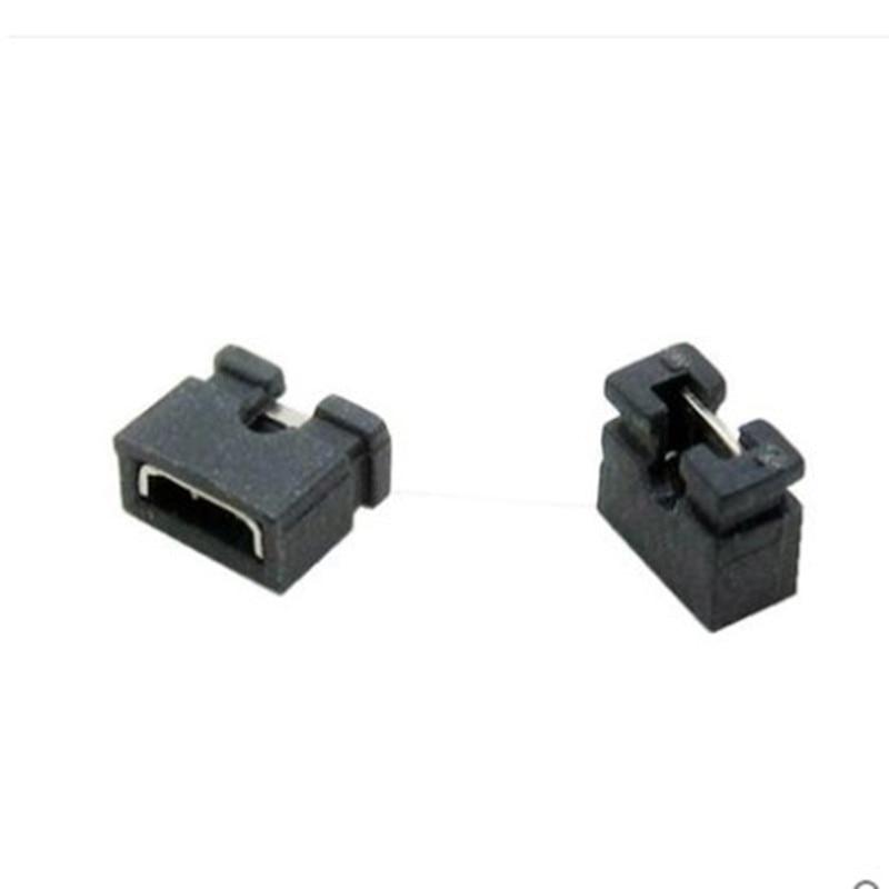100pcs Pitch 2.0mm Pin Header Shorting Cap Jumper Cap Short Block Black