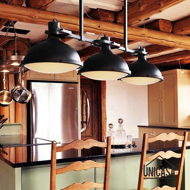 Große Pendelleuchten Jahrgang Industrielle Beleuchtung Moderne  Deckenleuchte Hotel Bar Küche LED Schmiedeeisen Anhänger Deckenleuchte