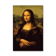 Da Vinci Мона Лиза красоты цифровой DIY картина маслом по номерам Настенный декор на краски, холст, масло Раскраска по номер рисунок картины по номерам на холсте картина по номерам рисование по номерам