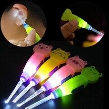 Illuminated earpick wax pick cleanser cleaner flashlight remover ear light led