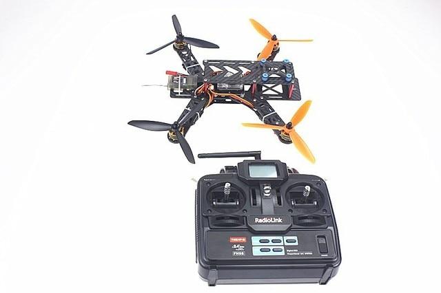 250 PRO Kit de Fibra de Carbono Mini H FPV Quadcopter RTF con Radioenlace T6EHP-E F11858-A TX y RX SIN Cargador de Baterías