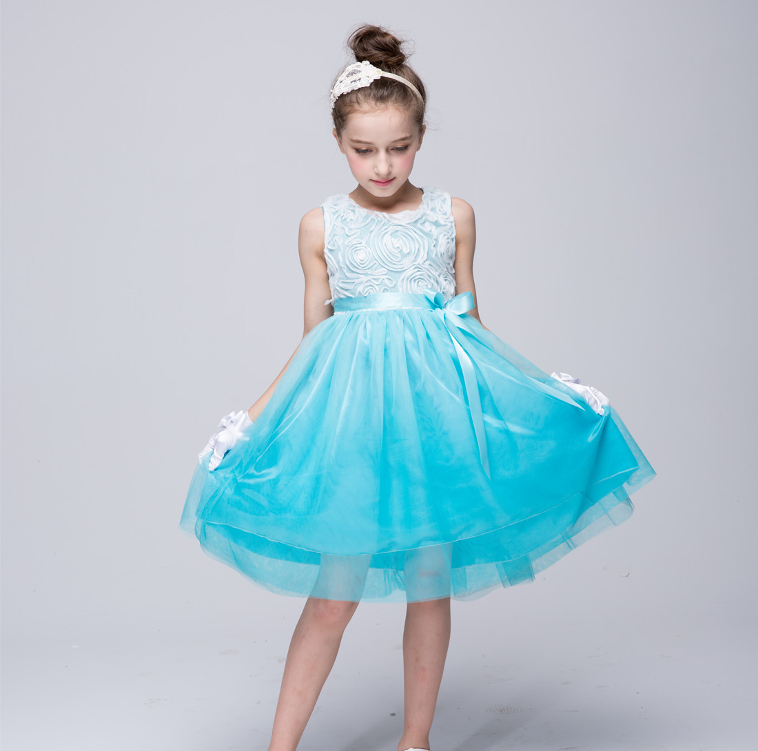 2017 Elegant Flower Girl Dress For Weddings Tulle Evening Party ...