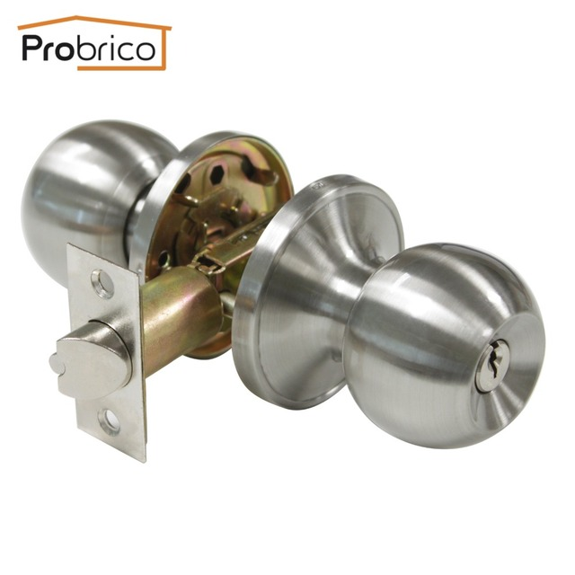 Probrico Stainless Steel Safe Lock Security Door Lock With Key ...
