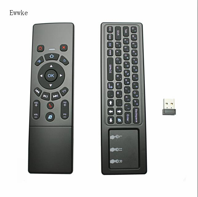 Ewwke T6 Remote Control With Keyboard Mini Wireless 2 4GHz T6 Fly Air Mouse Touchpad Combo