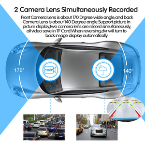 Image 4 - E ACE جهاز تسجيل فيديو رقمي للسيارات FHD 1080P 7.0 بوصة مسجل فيديو مرآة عدسة كاميرا مزدوجة مع كاميرا الرؤية الخلفية السيارات مسجل داش كام