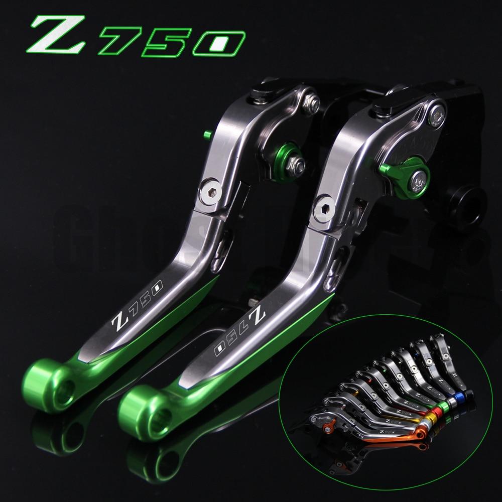 !Logo(Z750) Green+Titanium For Kawasaki Z750 (not Z750S model) 2007 2008 2009 2010 2011 2012 CNC Motorcycle Brake Clutch Levers billet adjustable long folding brake clutch levers for kawasaki z750 z 750 2007 2008 2009 2010 2011 07 11 z800 z 800 2013 2014
