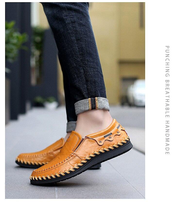 En Hommes Homme jaune Casual Conduite Patchwork Main Chaude Cuir marron Vente Noir Appartements Confortable Chaussures Qualité Véritable qLjzMVGSUp