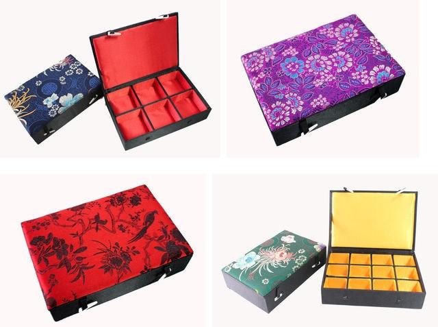JewelryStorageGift Box Chinese Handmade Classic Silk Embroidery Amazing Chinese Decorative Boxes
