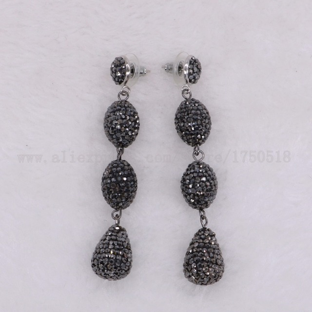 3 Dangle Earring Black Earrings Whole Jewelry Gems Stone For Women 2113