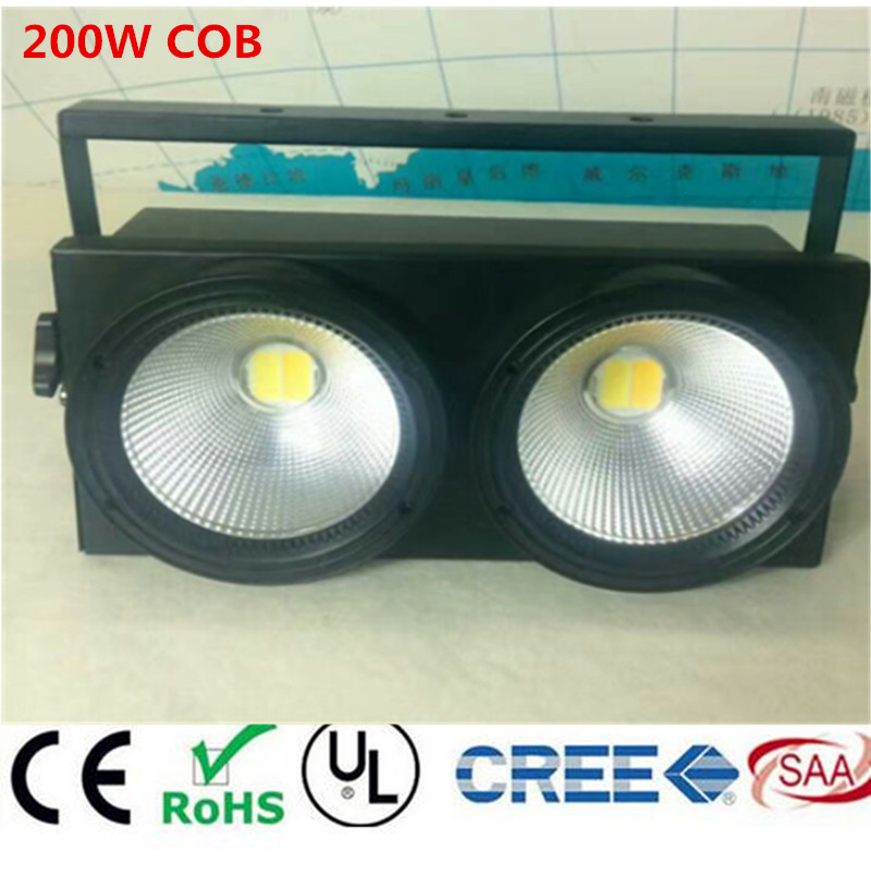 2eyes 2x100w LED COB Light DMX Stage Lighting Effect Led Blinder Light ,Cool White / Warm White Dmx controll blinder m45 x treme