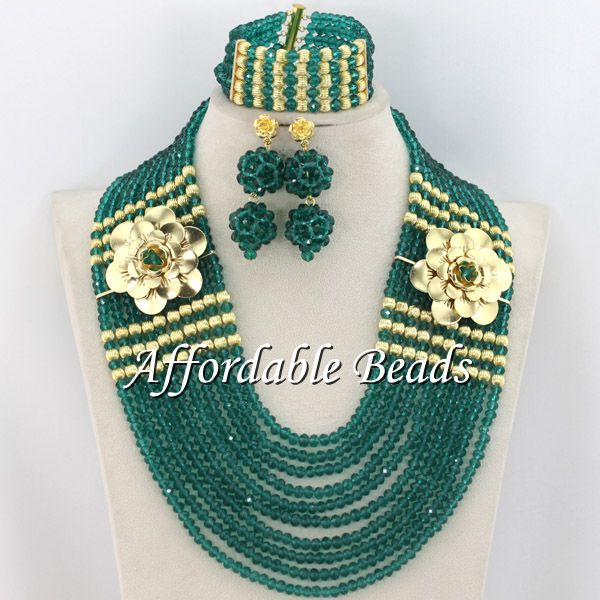 Army Green Big Jewelry Sets Best Selling Indian Jewelry Set Wedding Hot Item Free Shipping ABE103 hot selling 7a indian body wave silk base closure bleached knots virgin indian body wave closure no tangle