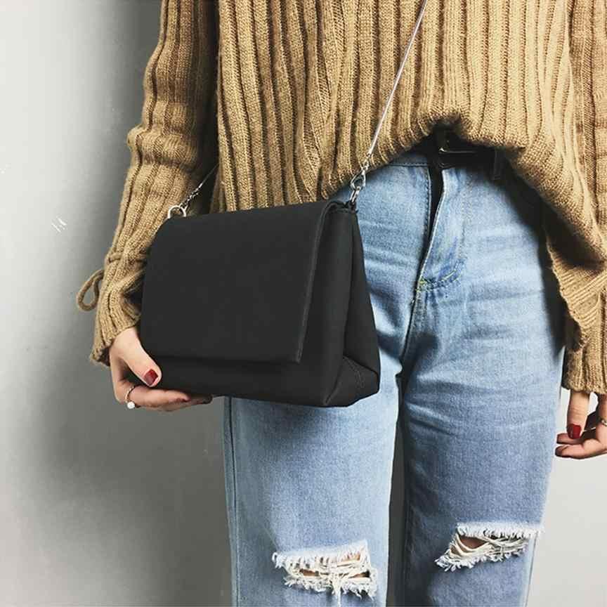 Naylon Crossbody çanta kadınlar için çanta moda katı kadın Messenger omuz çantaları kapak zinciri kadın çantası bolsas feminina