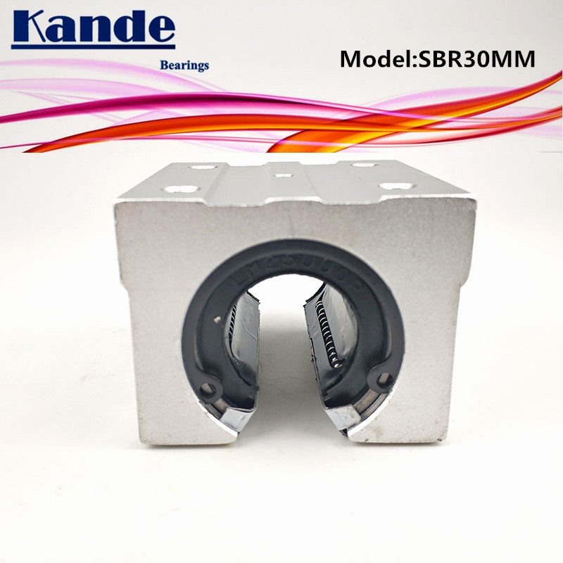 Kande Bearings 2pcs SBR30UU SBR30 UU SBR30 Open Bearing block CNC parts slide for 30mm linear