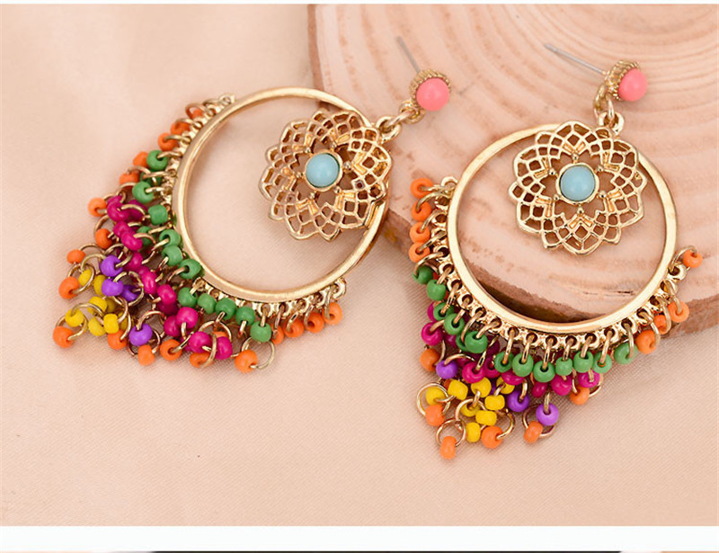 Statement Earrings For Women Brincos Grandes New Arrival Fashionable Gold Color Alloy Colorful Rhinestone Drop In From Jewelry