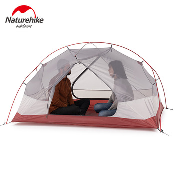 Naturehike Custom Mongar 2 3 Person Waterproof Double Layer Outdoor Tent Aluminum Rod Gray Ultralight Camping Tents Mat e-EMS 2