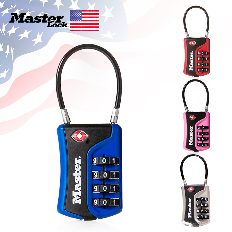 Master Lock <font><b>TSA</b></font> Luggage Lock WORD Numeric Combination Password Locks For Travel Luggage Suitcase Code Padlock Customs Lock image