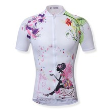 2016 new arrival women cycling jersey short sleeve breathable printing bike clothes for summer