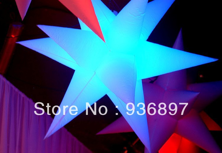 Free shipping 2 meters LED lighted inflatable star for decoration inflatable star with color changing LED light free shipping led light up inflatable heart shpe light inflatable lighting 2 4m for valentine s day wedding toy decoration