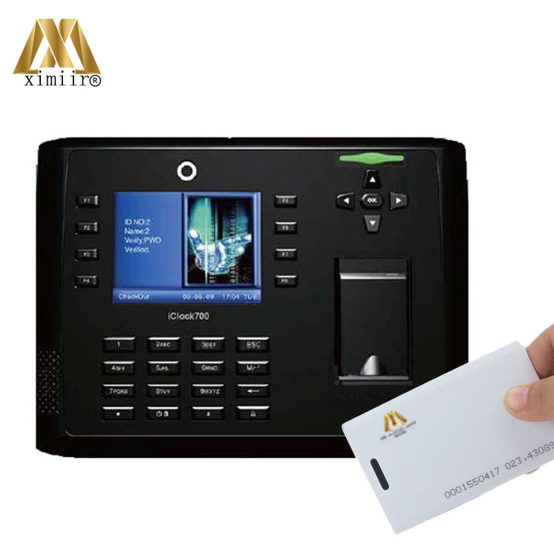 Free Software/SDK Iclock700 Fingerprint Access Control And Time Attendance TCP/IP Time Recording With ID Card Reader And Battery