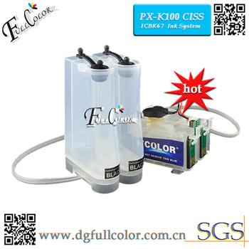 FREE SHIPPING Fast Deliver 2 Set A Lots IC67BK Ink System With ARC Chip For PX-K100 CIS CISS System