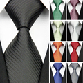 """Lazos de Ancho para Los Hombres de Seda A Rayas Corbatas de Los Hombres de moda de Negocios Gravatas Corbata Formal de La Boda Rojo Negro Verde Blanco 4 """"/10 cm"""