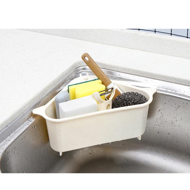 1pcs Multifunctional Kitchen Sink Storage Rack Washing Bowl Sponge Drain Rack Plastic High Quality Home Kitchen Organizer Gadget