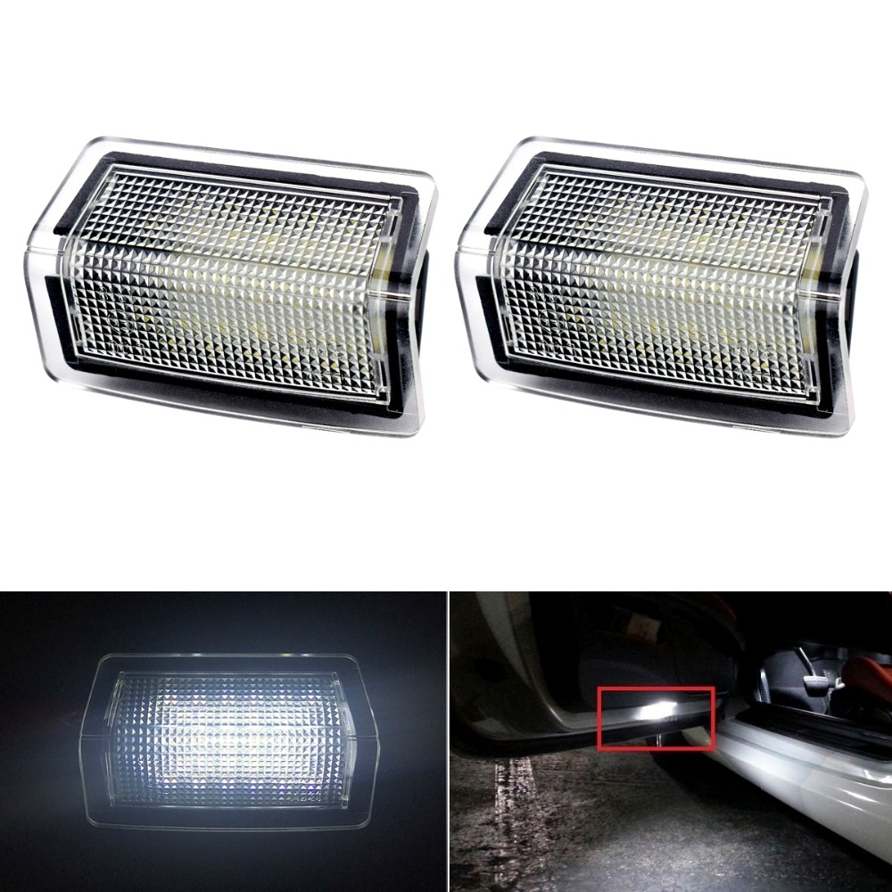 2pcs 12V Canbus Car LED Door Welcome Light for <font><b>Mercedes</b></font> Benz E W204 W176 W246 W212 4D/5D W166 Auto White SMD Courtesy Lamp image