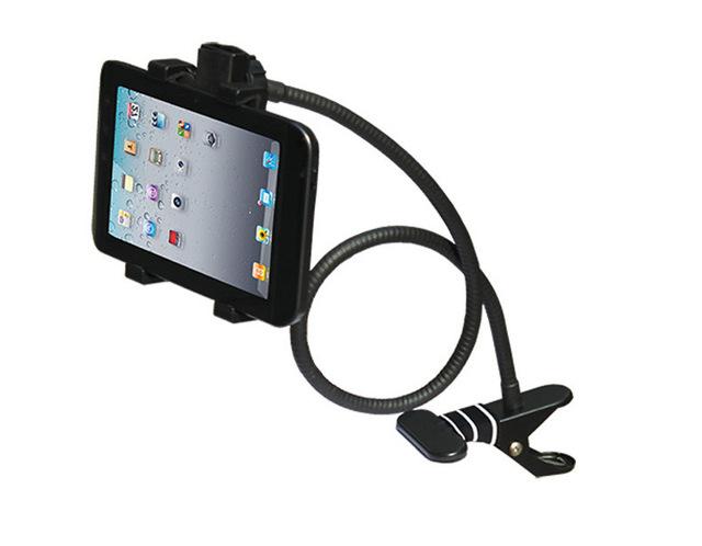 360 Rotating Flexível Cama mesa de cabeceira do ABS & aço inoxidável 80 CM tablet pc suporte suporte suporte de montagem para 7-14 polegada ipad Tablet