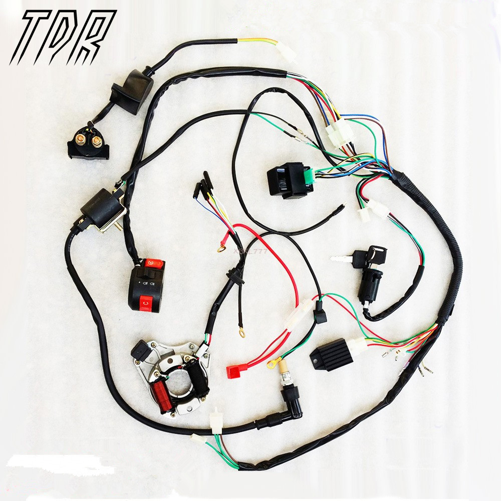 small resolution of stock in usa 50 70 90 110cc 125cc wire harness wiring cdi assemblystock in usa 50