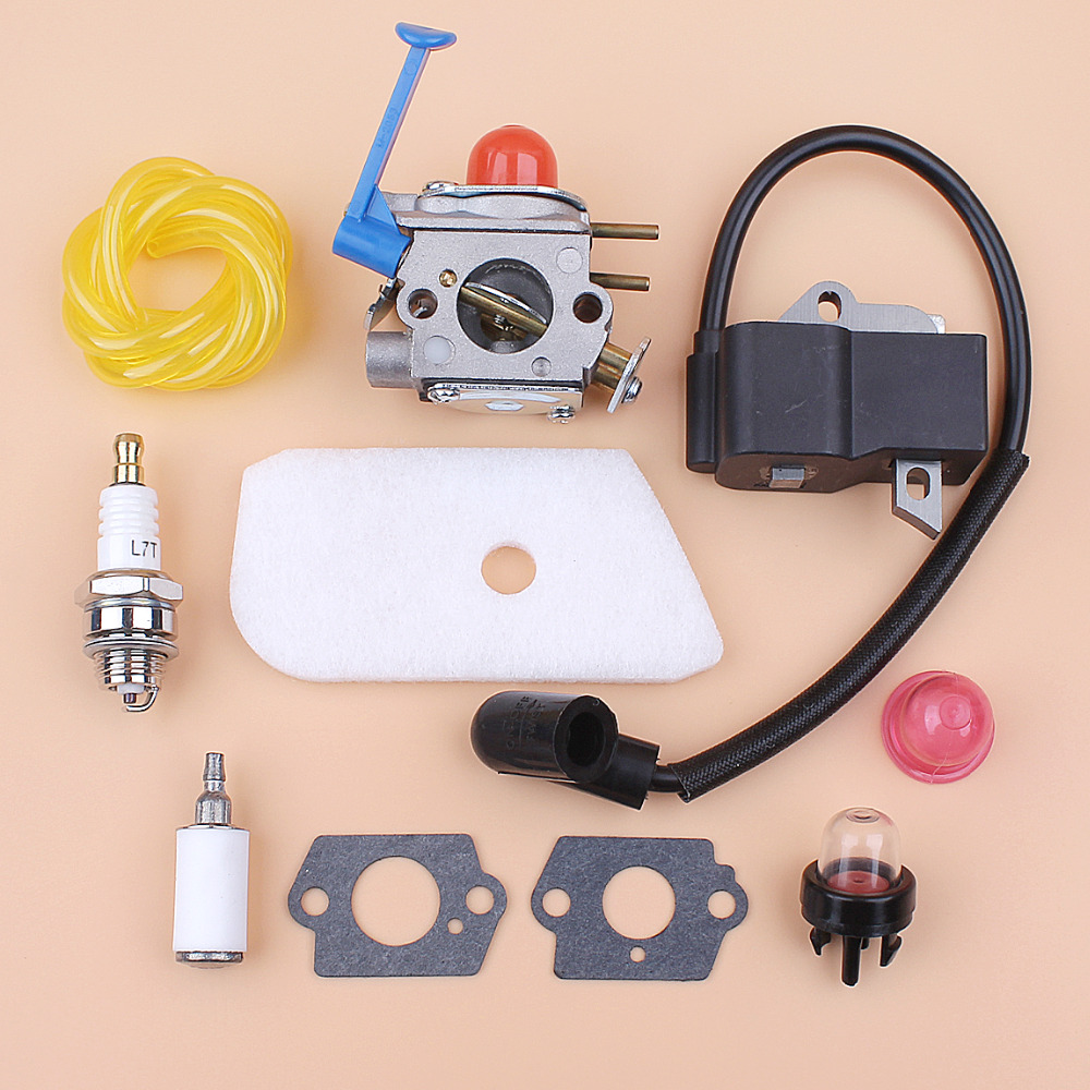 Carburetor Ignition Coil Kit for HUSQVARNA 125C 125E 125L 128C 128LD 128R Brushcutters Trimmer Spares Zama C1Q-W31B C1Q-W40A