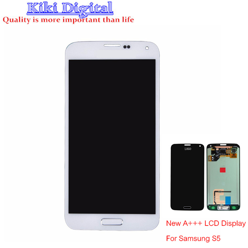 WOJOQ New AAA LCD For Samsung Galaxy S5 I9600 SM-G900 SM-G900F G900 Display touch screen Digitizer Replacement Part