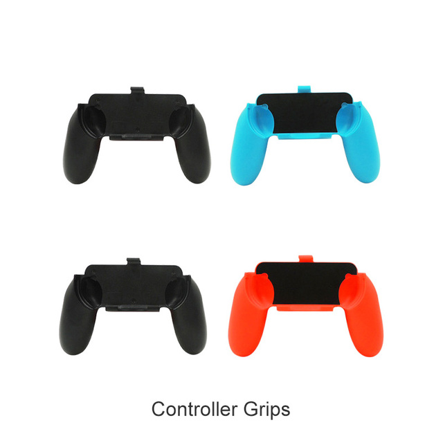 Nintend Switch 10 in 1 Accessories Kit with 4 Steer Wheels 4 Joy-con Handle Grips + 1 Console USB Charger for Nintendo Switch 3