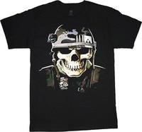 Big Men S Clothing Shirt Military Skull Army Marines USMC Tee Printed T Shirt Men Cotton