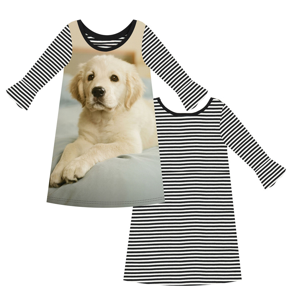 Kids Clothes Clothing Baby Girl Dress Long Sleeve Girls Stripe