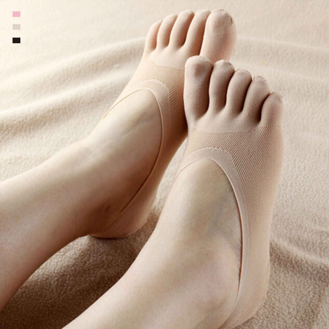 Hot Fashion Lustige Fünf Finger Zehe Socke Frauen Hausschuhe Unsichtbarkeit Socken Low Cut Solide Socken Atmungsaktive Socken