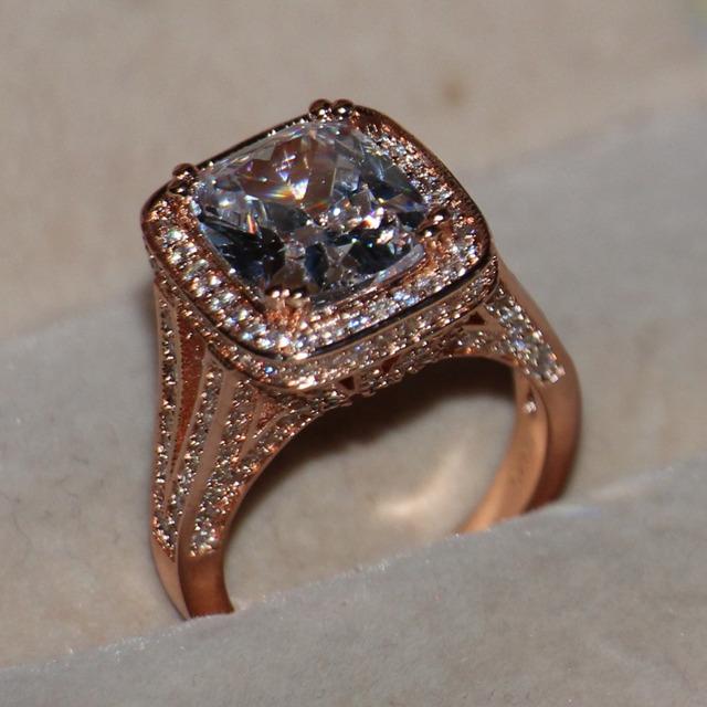 Princess 925 Silver Simulated Stones Ring