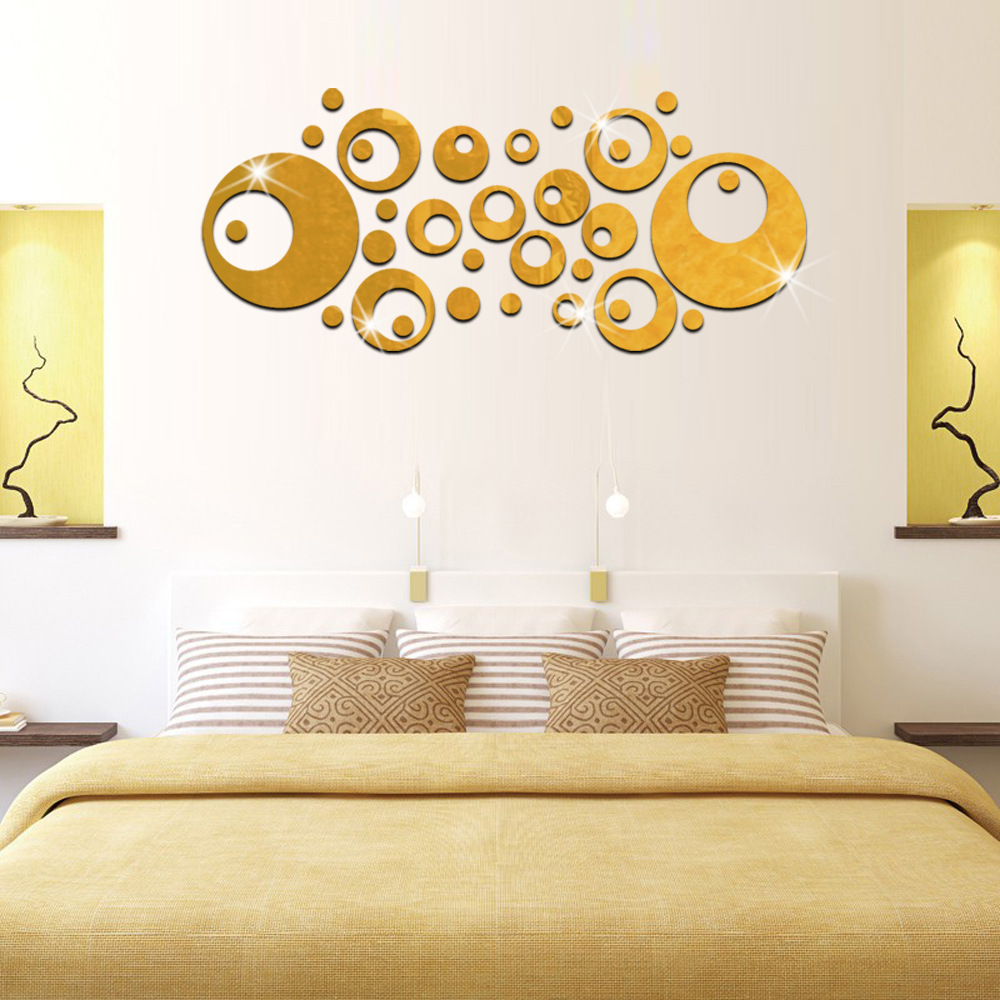 3D Bubble Mirror Wall Stickers Wall Decorations Living Room Bedroom ...