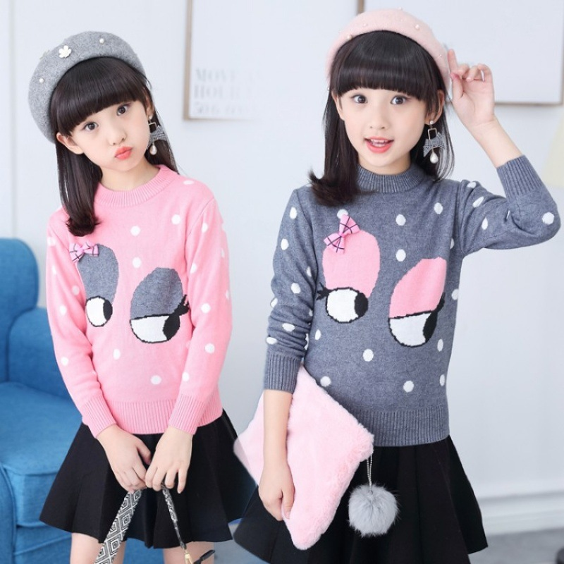 Kids Sweater Girls Lovely Teenagers Baby Girl Long Sleeve Toddler Girl Kids Ribbed Sweater Knit Clothes Big Girls 12 Kerst Trui